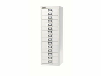 CHALK WHITE 15 MULTI DRAWER 'BISLEY' FILING CABINET - NEW 860H x 279W x 380D mm