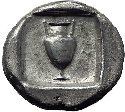Boiotian League Ostensibly Thebes in Boeotia Ancient Silver Greek Coin i65312