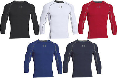 Under Armour HeatGear Compression Men's Long Sleeve Shirt-1257471-FREE SHIPPING