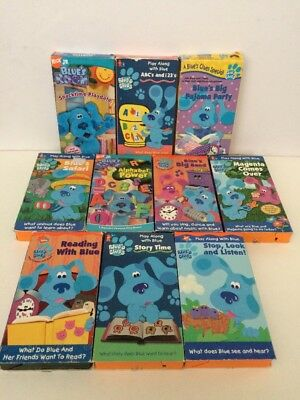 Lot Of 10 Blues Clues Room Vhs Tapes Nickelodeon Show