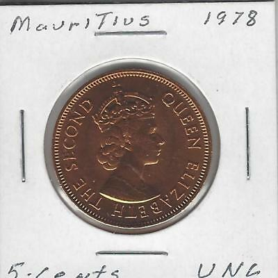 Mauritius, 5 Cents, 1978, Uncirculated