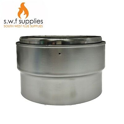 Multi Fuel Stove Flue Liner Adapter For Rigid Flue Pipe To Flexible Flue Liner