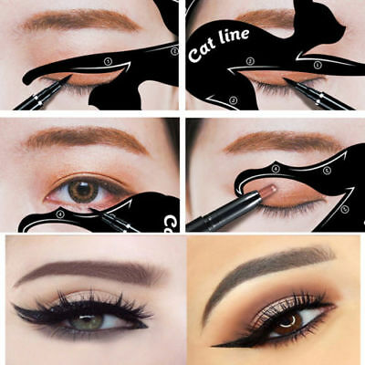 New Style Cat eye stencil eyeliner Template Shaper Tool  SPECIAL OFFER UK SELLER