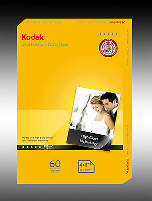 "60 Sheets Kodak Ultra Premium 280gsm 4x6"" Photo Paper"
