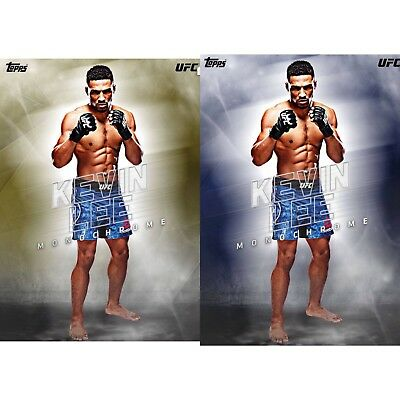 MONOCHROME YELLOW BLUE PAIR KEVIN LEE Topps UFC Knockout Digital Card