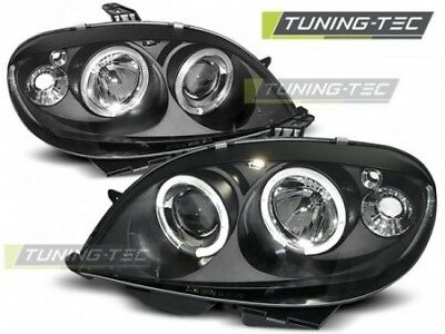 Coppia fari Fanali Anteriori Tuning CITROEN SAXO (1999-2003) ANGEL EYES Nero