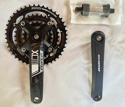 Suntour XCM Triple Crankset 44/32/22 with 73mm Bottom Bracket Crank Arms 175mm