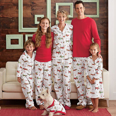 US Christmas Kids Adult Family Matching Pajamas Set Sleepwear Nightwear Costume