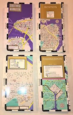 Filofax Personal Size Set of 4 Streetwise Laminated Fold-out City Maps