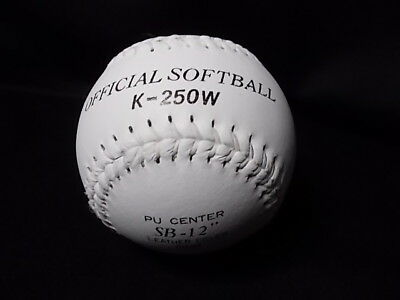 "SOFTBALL  Leather Covered Official Softball (K-250W) SB-12"" -  BRAND NEW"