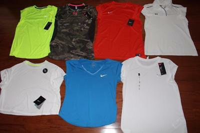 Lot 7 Under Armour Nike Womens Shirts Running Polo Ridge Reaper Camo Medium Nwt