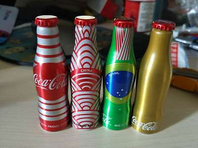 Rare china 2016 coca cola Brazil Olympic Games mini aluminum bottle of 4