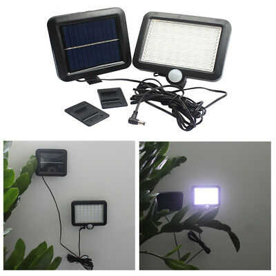 56 LED Solar PIR Motion Sensor Wall Light Outdoor Garden Fence Security Lamp