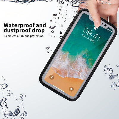 360° Waterproof Dirtproof Shockproof Hybrid Rubber Phone Case Cover For iPhone X