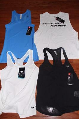 Lot Of 4 Under Armour Heatgear Womens Tank Tops Nike Dri-Fit $130+ Medium Nwt