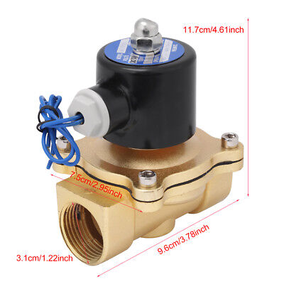 DC12V 1 inch Electric Solenoid Valve Magnetic Normally Closed for Water Air Hot