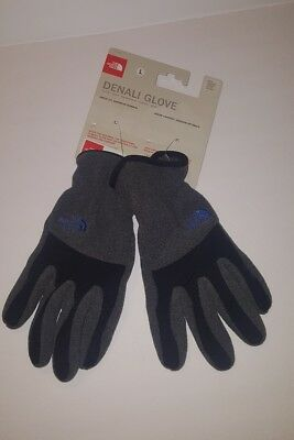 NWT The North Face Youth Denali Etip Gloves Unisex Charcoal Grey Heather Medium
