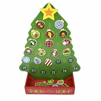 Christmas Advent Calender Wooden Magnetic, Children's Advent Calender