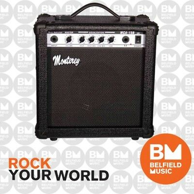 Monterey MCA-15B Bass Guitar Amplifier 15w Combo Amp - Brand New -Belfield Music