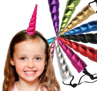 10 X Magical Unicorn Horn Head Party Kid Hair Headband Fancy Dress Cosplay Decor