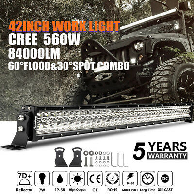 CREE 42inch 560W LED Work Light Bar Spot Flood Combo Ford Offroad Driving Lamps