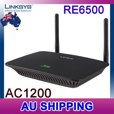 LINKSYS RE6500 AC1200 1200Mbps DUAL BAND WiFi WIRELESS RANGE EXTENDER Booster