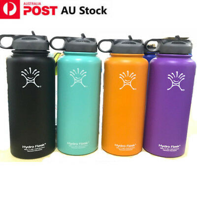 32oz/40oz Hydro Flask Insulated Stainless Steel Water Bottle With Straw Lid