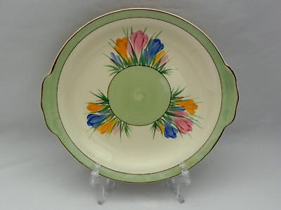 VINTAGE  - Early CLARICE CLIFF - **Spring Crocus** Serving  Plate - VG