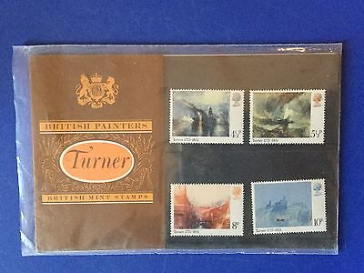 British Painters Turner British Mint Carded Commemorative Stamps Freepost