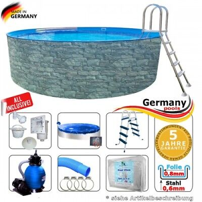 stahlwandbecken schwimmbecken skimmer 3 60 x 1 07 m rundbecken pool poolfolie eur 381 50. Black Bedroom Furniture Sets. Home Design Ideas