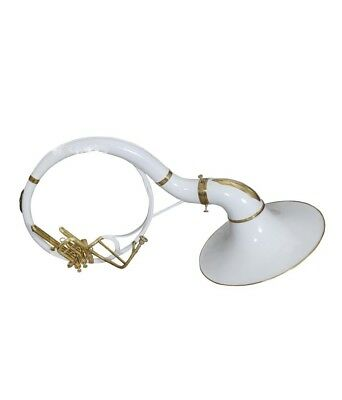 CHRISTMAS GIFT SOUSAPHONE SMALL Bb PITCH WHITE+ BRASS W/ FREE CARRY BAG+MP+SHIP