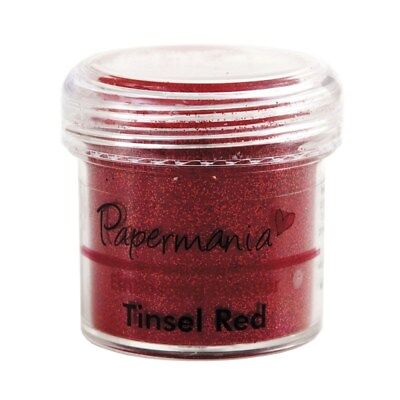 Embossingpulver Tinsel red Lametta-rot 28ml DoCrafts Papermania PMA 4021013