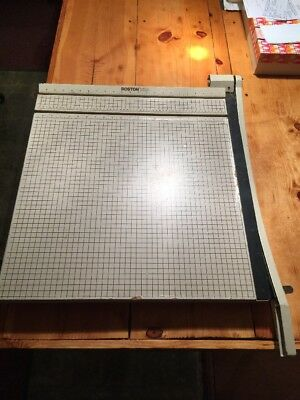 "Boston 24"" Paper Guillotine Cutter. Nice! Look! Works Great! 15 Sheet Cut"