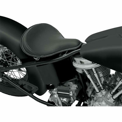 Drag Specialties Large Solo Seat - Leather - Black - (0806-0052)