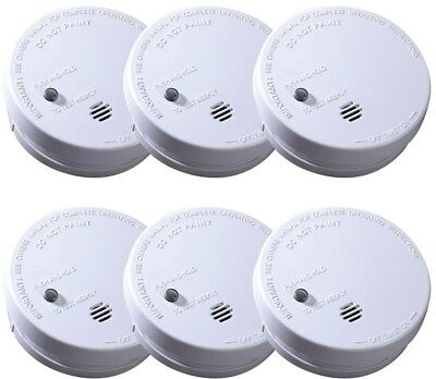Ionization Smoke Alarm Battery Operated Home Fire Hazard Safety Detector (6-Set)