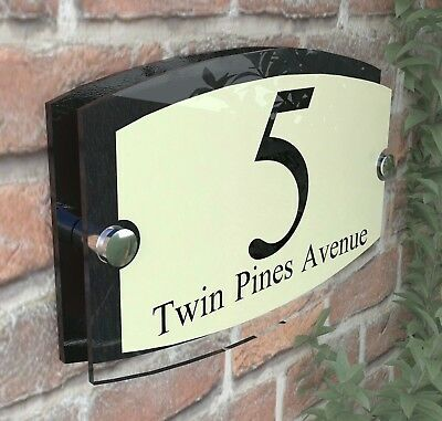 Classic Cream House Signs Plaques Door Numbers 1 - 999 Personalised ESTA5-2BVP