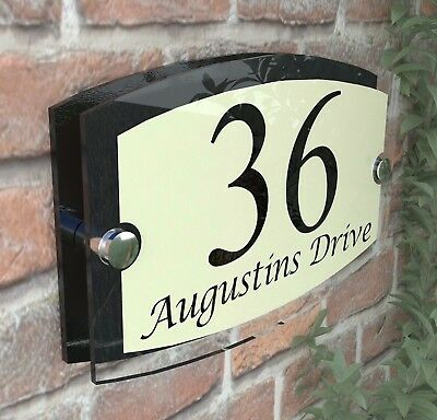 Classic Cream House Signs Plaques Door Numbers 1 - 999 Personalised ESTA5-13BVP
