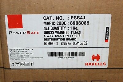 Psb41 Havells Powersafe 4Way 125A Tp&n Type B Dist Board