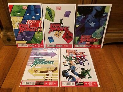 Lot of 5 Young Avengers Volume 2 #1 2 3 4 5 Marvel Comics (2013) VF/NM