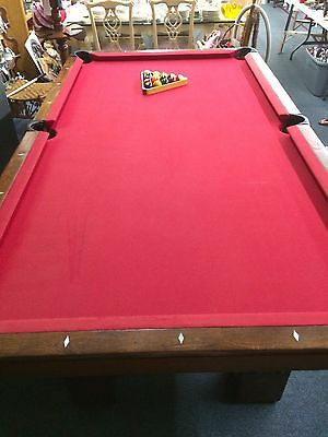 Antique Pool Table Monarch Brunswick Balke-Collender Co. Cushion Circa Late 1800