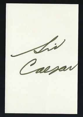 "Sid Caesar signed autograph 4""x6"" card Comedic Actor"