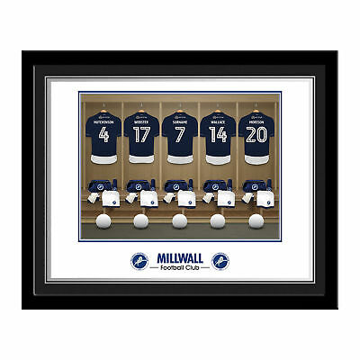 PERSONALISED Millwall FC Dressing Room Photo Framed 12x10 Xmas Football Gift