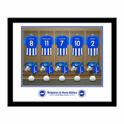 PERSONALISED Brighton FC Dressing Room Framed Print 16x13 Xmas Football Gift
