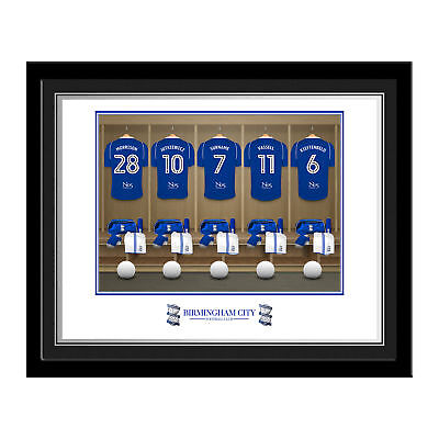 PERSONALISED Birmingham City FC Dressing Room Photo Framed 12x10 Football Gift