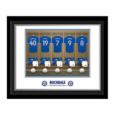 PERSONALISED Rochdale AFC Dressing Room Photo Framed 12x10 Xmas Football Gift