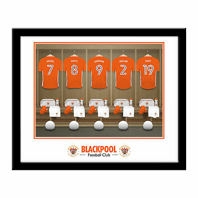 PERSONALISED Blackpool FC Dressing Room Framed Print 16x13 Xmas Football Gift