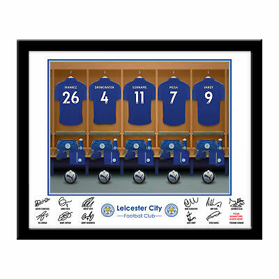 PERSONALISED Leicester City FC Dressing Room Framed Print 16x13 Football Gift