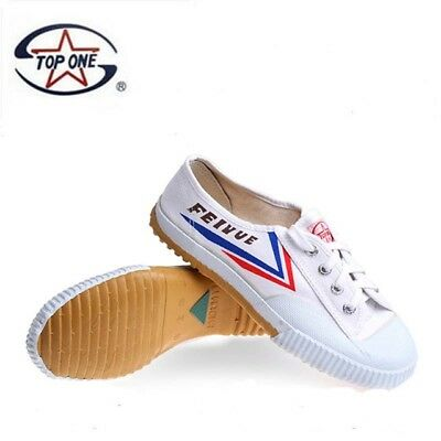 Top One Feiyue Wushu Training Shoes White Martial Arts Kung Fu Slippers Trainers