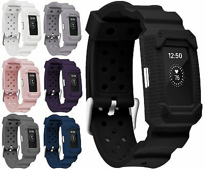 BLACK Small-Large New Wristband Bracelet Band Strap For FITBIT CHARGE 2