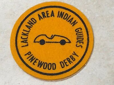 YMCA Indian Guides Lackland Area PInewood Derby Patch - 3""